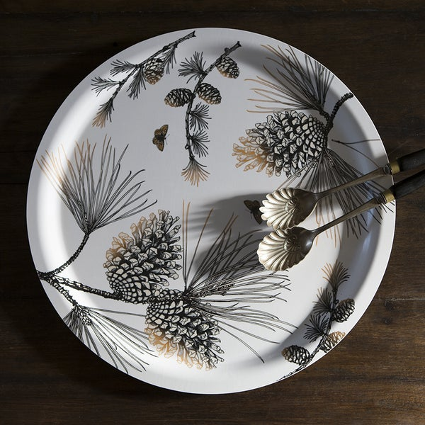 Image of Pine Cone Tray 49cm - White