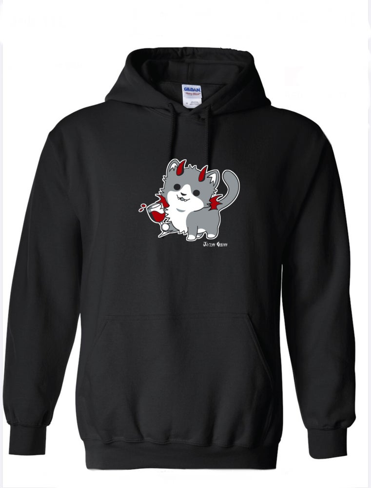 Image of WineKitty Hoodie (Black)