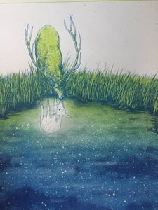 Image of Elk Reflections (green Variant
