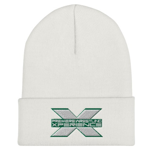 Image of Cuffed Beanie (Green and White Logo)