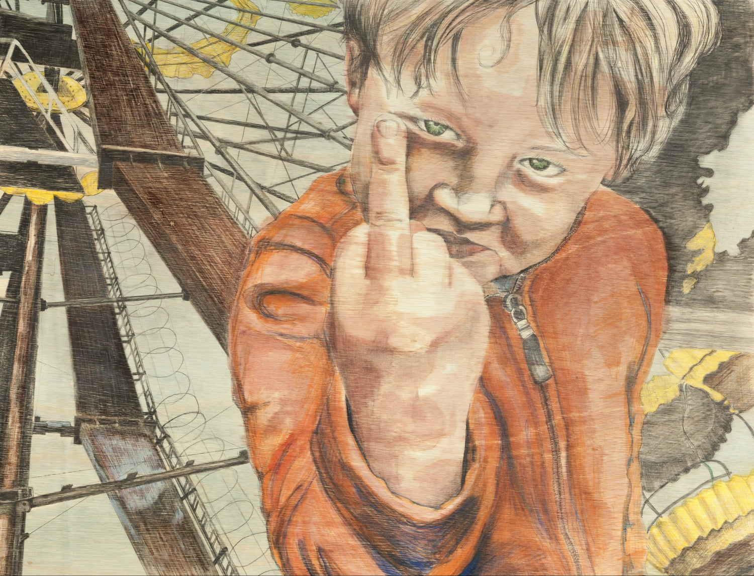 Image of You fucked up my playground - Art-Card