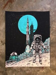Image of Apollo 11 art print