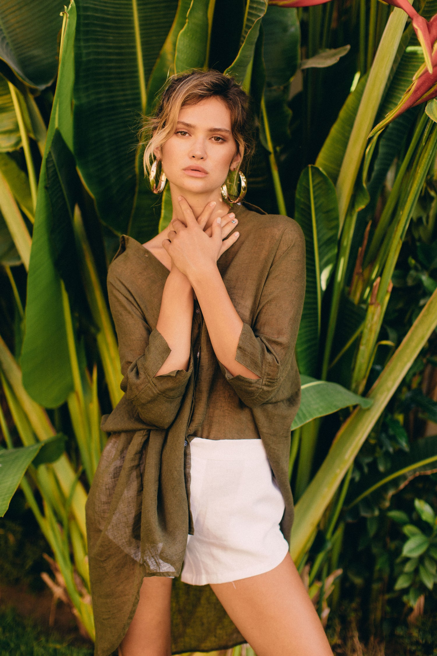 Image of TULUM TOP - OLIVE