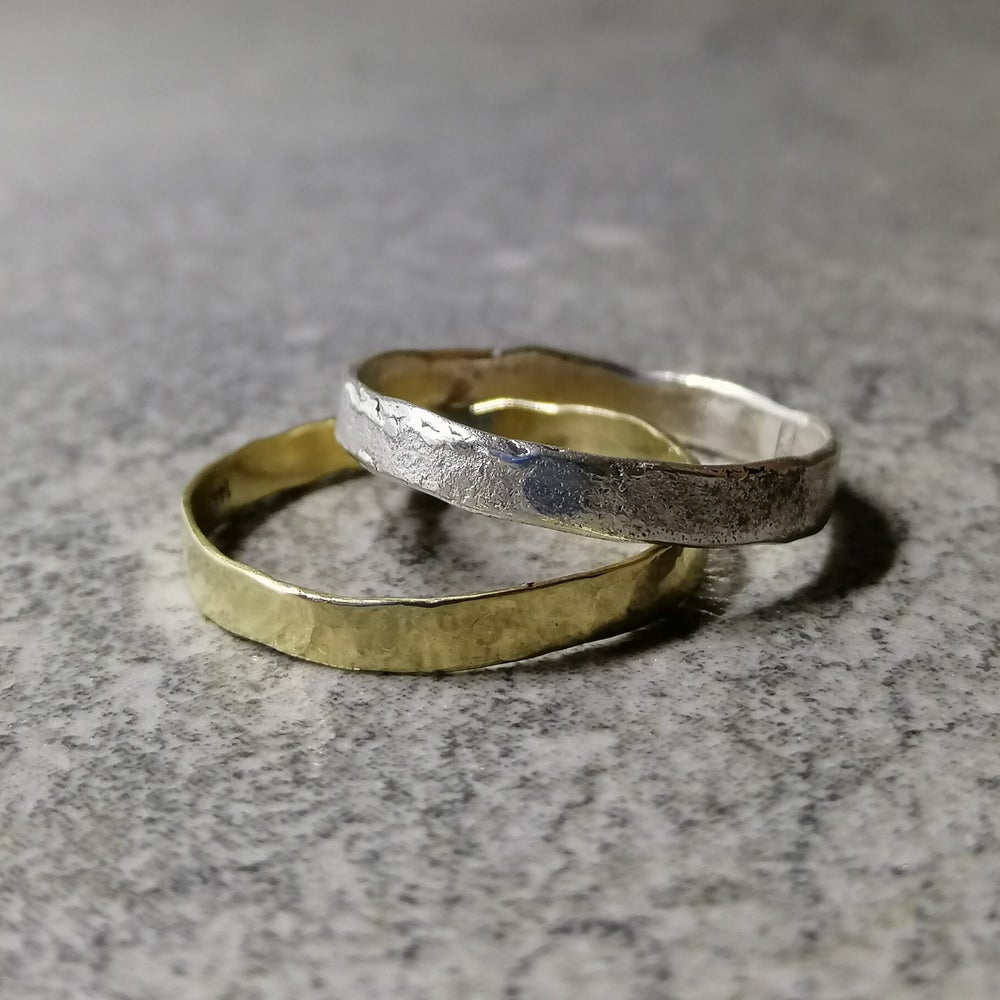 Image of Gold and silver stacking set