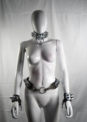 Image of Pleasure and Pain Double Spike O-ring Choker
