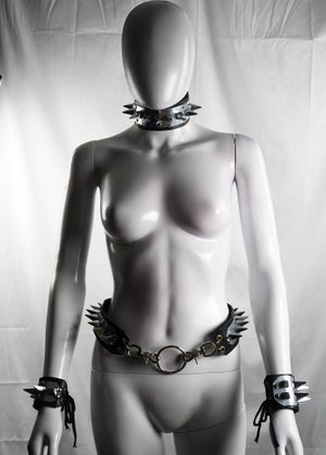 Image of Pleasure and Pain Single Row Spike Choker