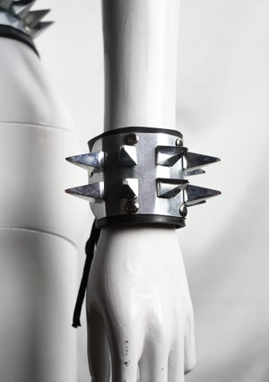 Image of Pleasure and Pain Double Row Spike Cuff