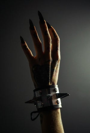 Image of Pleasure and Pain Single Row Spike Cuff