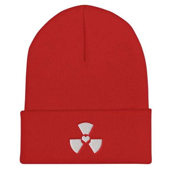 Image of Embroidered Heart Radiation Beanie (Red)