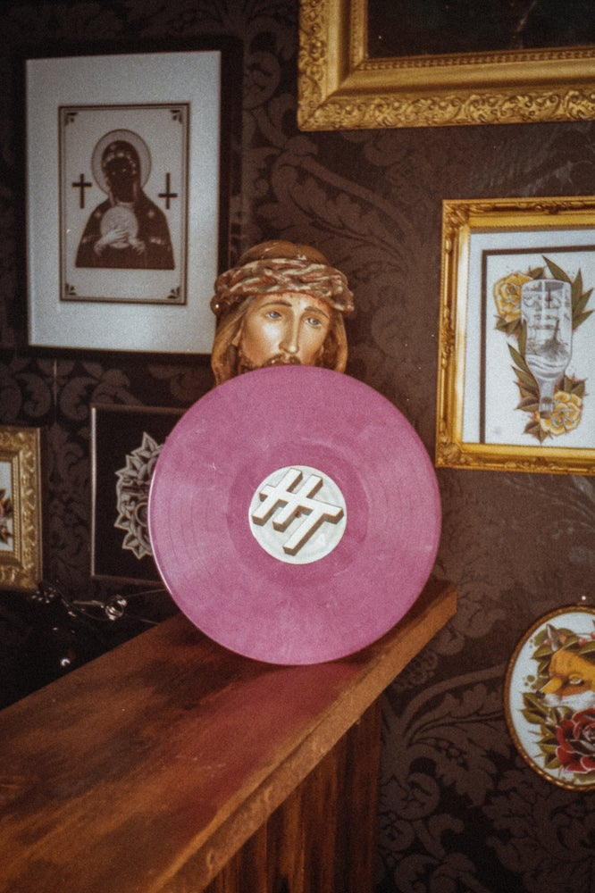 """Image of 'CULT' 12"""" LP PINK-MARBLED"""