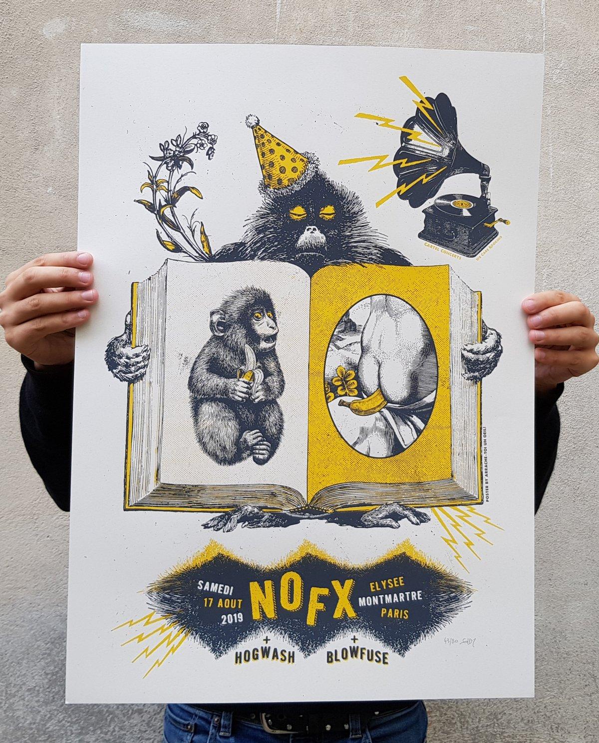 NOFX (gigposter Paris 2019)