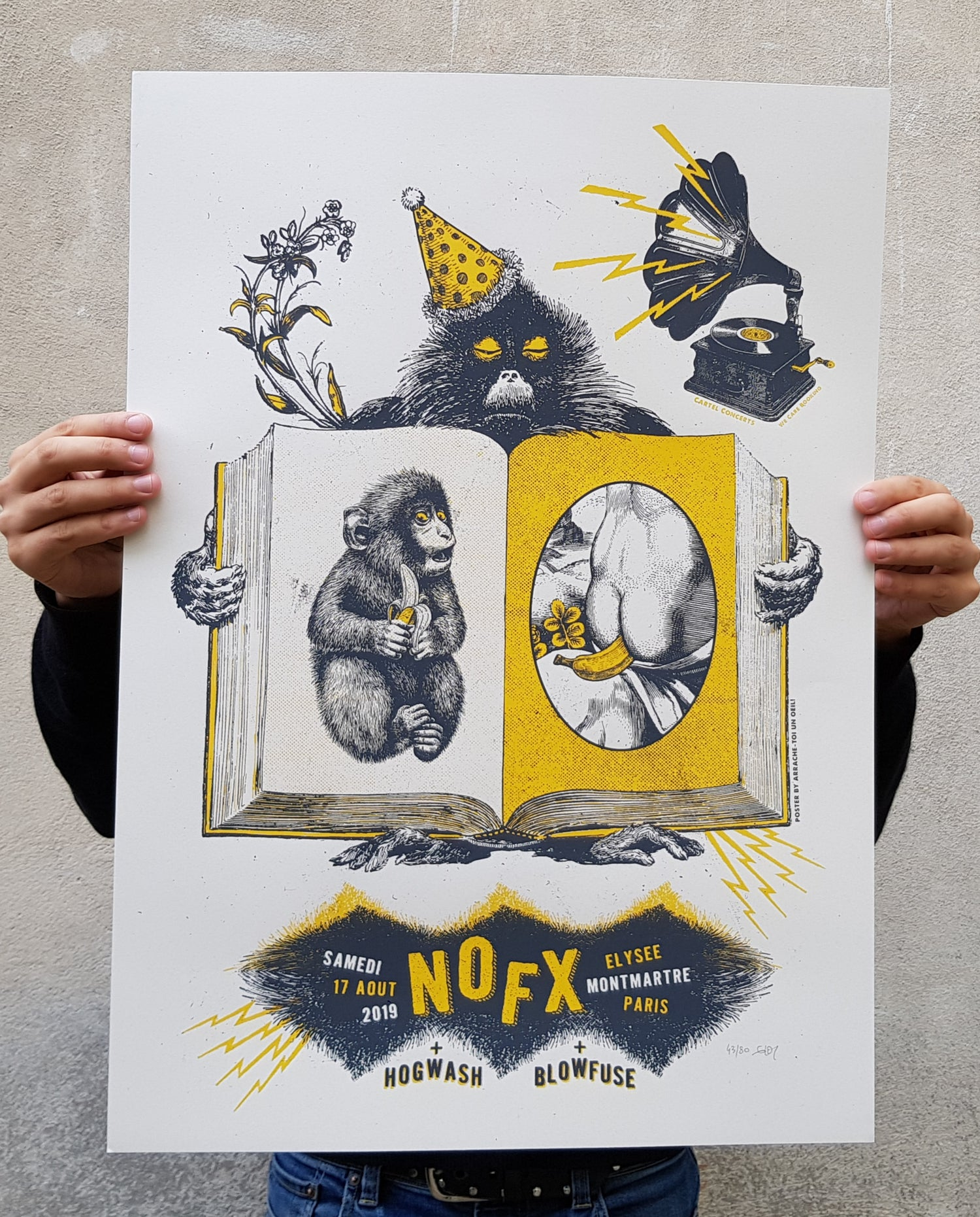 Image of NOFX (gigposter Paris 2019)