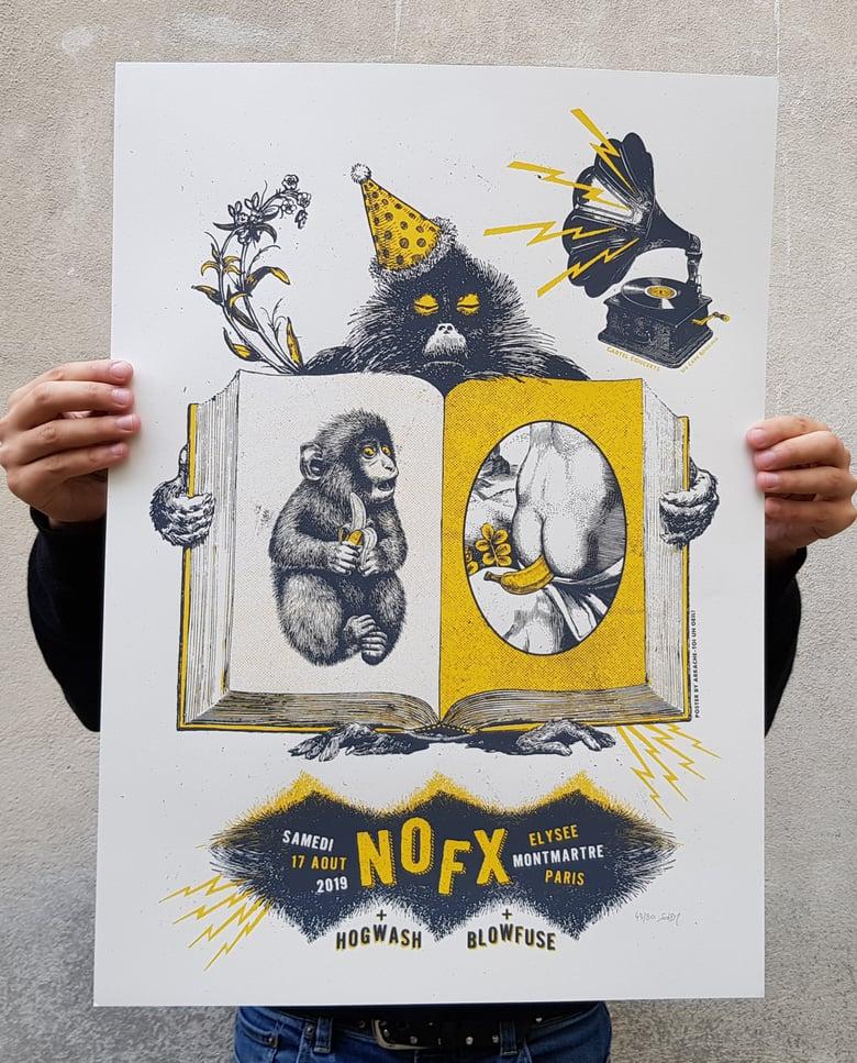 Image of NOFX (gigposter Paris 2019)