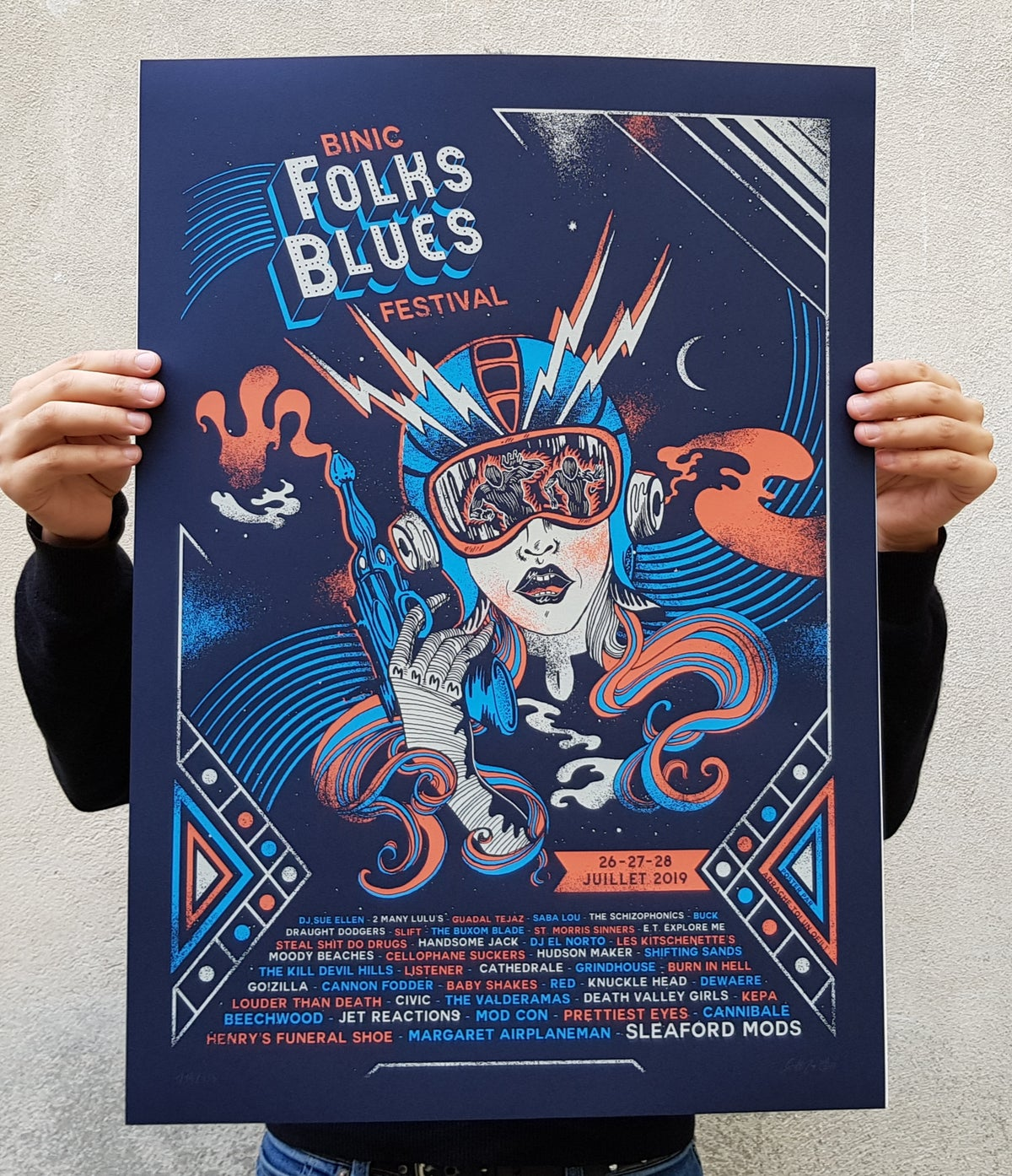 BINIC FOLK BLUES festival 2019 (screenprinted poster)