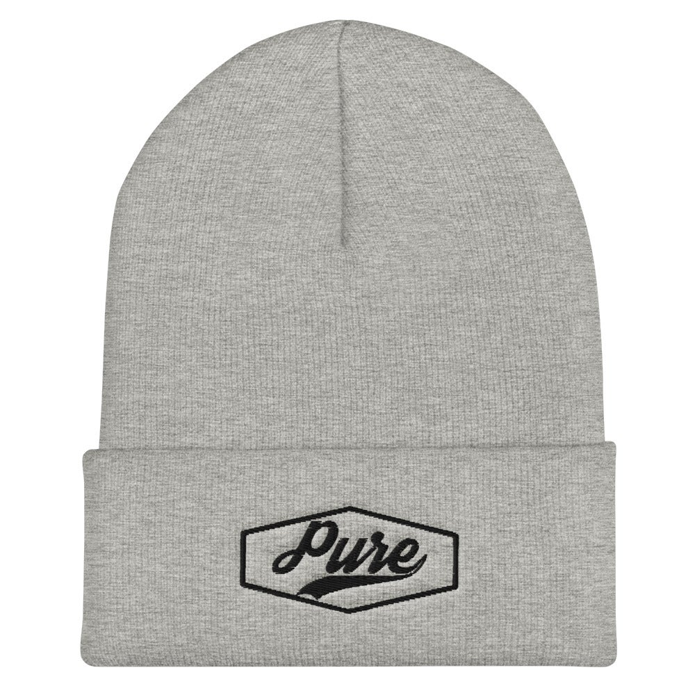 Image of PWX Pure Beanie (Black Thread logo)