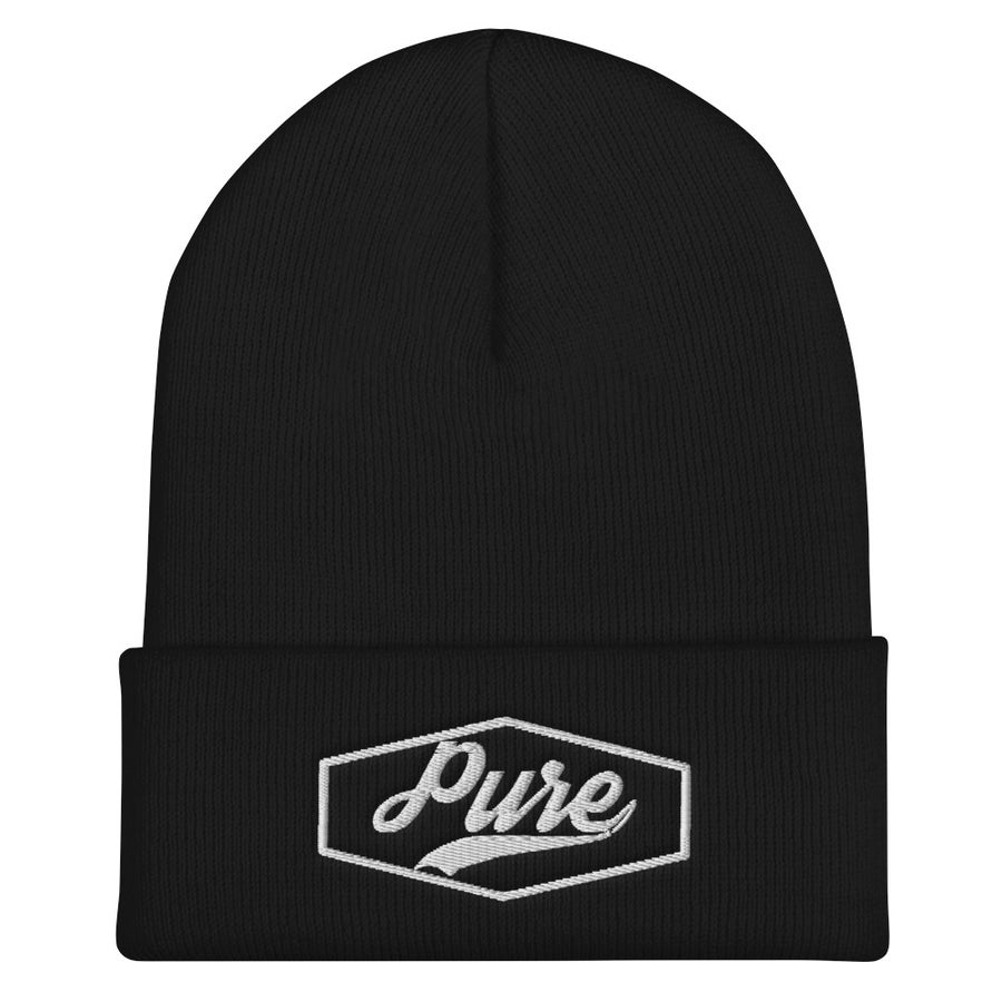 Image of PWX Pure Beanie (White Thread Logo)