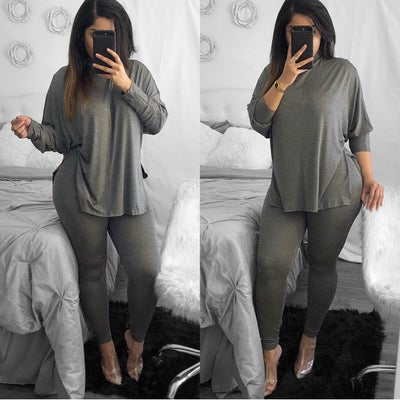 Image of When I feel like it dark grey 2 piece