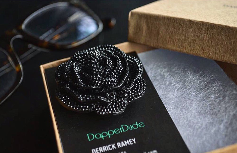 CLASSIC BLACK LAPEL PIN