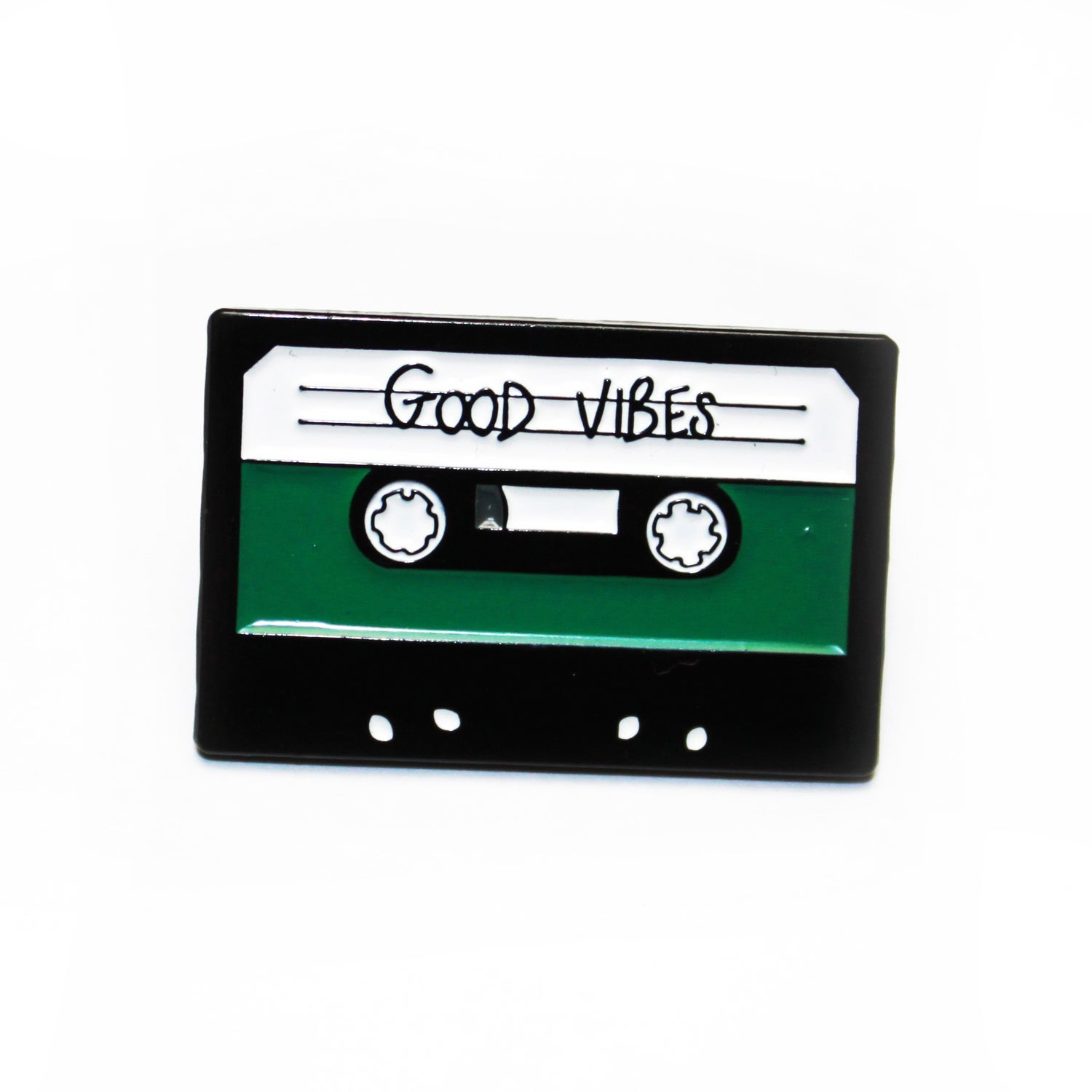 Image of good vibes cassette pin
