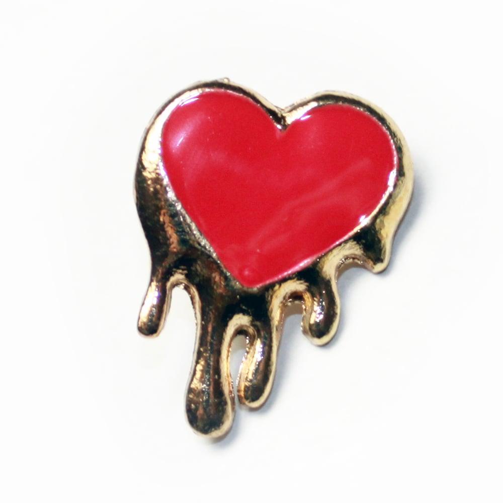 Image of melting heart pin