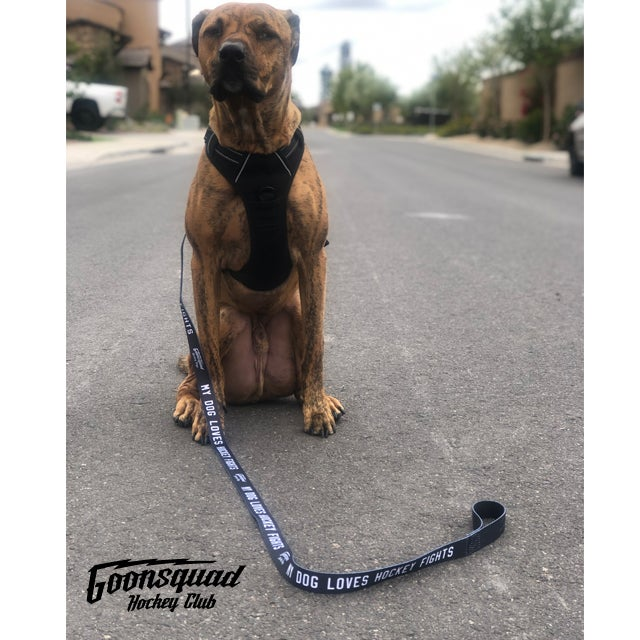 My Dog Loves Hockey Fights Leash [FREE SHIPPING]