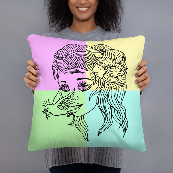 Image of Dove Girl Pillow