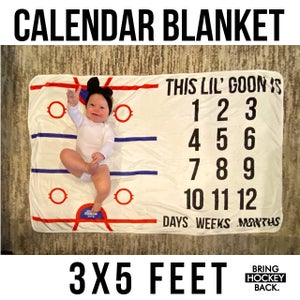 Image of Baby Calendar Blanket [FREE SHIPPING]
