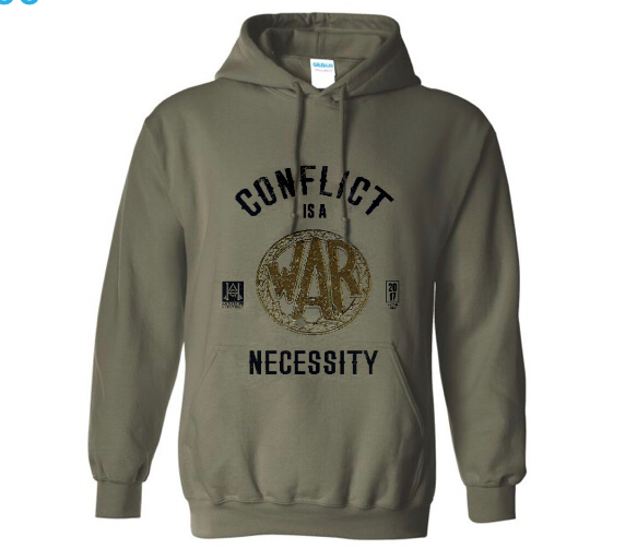 Image of Conflict is a Necessity/We Honor Sweatshirt