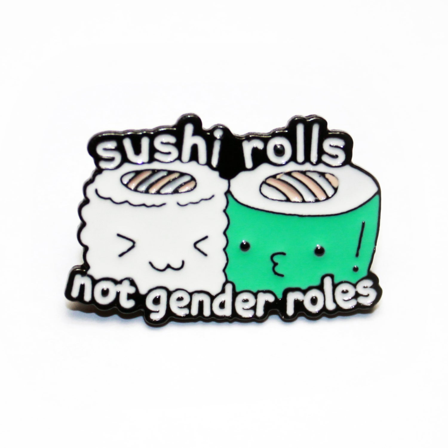 Image of sushi rolls not gender roles pin