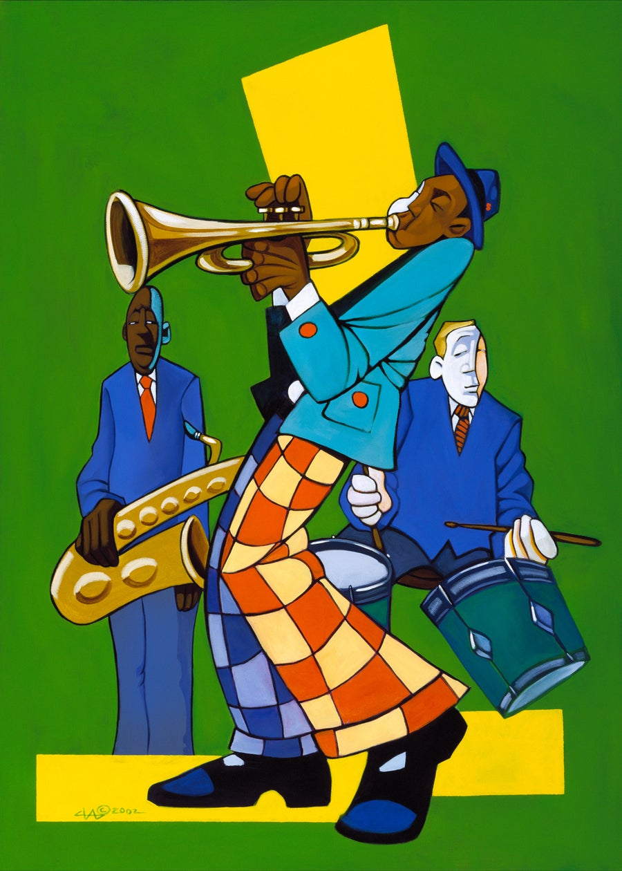 Image of trumpet solo miniprint