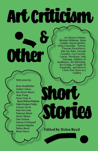 Image of Art Criticism & Other Short Stories: Edited by Helen Reed