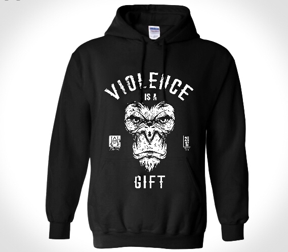 Image of Violence is a Gift/We Hit Sweatshirt BLACK