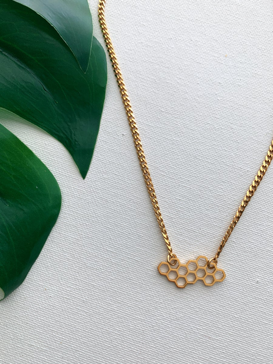 Image of HENNY COMB • Honeycomb Necklace
