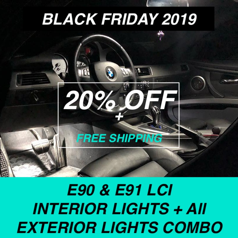 Image of #BLACKFRIDAY BMW - 3 SERIES E90 & E91 (LCI) LED INTERIOR + EXTERIOR LIGHTS COMBO DEAL