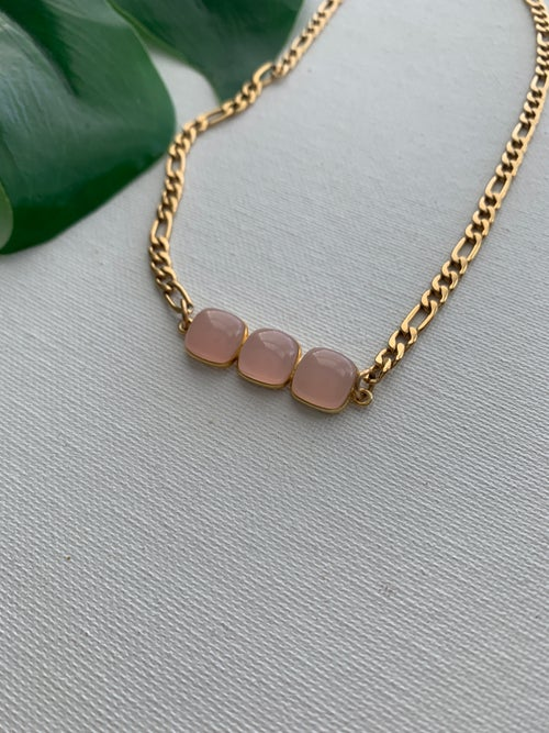 Image of PINK HONEY • Pink Chalcedony Necklace