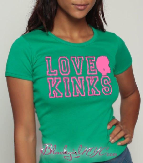 Image of LOVE KINKS - Pink on Green - Salmon on Apple Green (AKA Version)