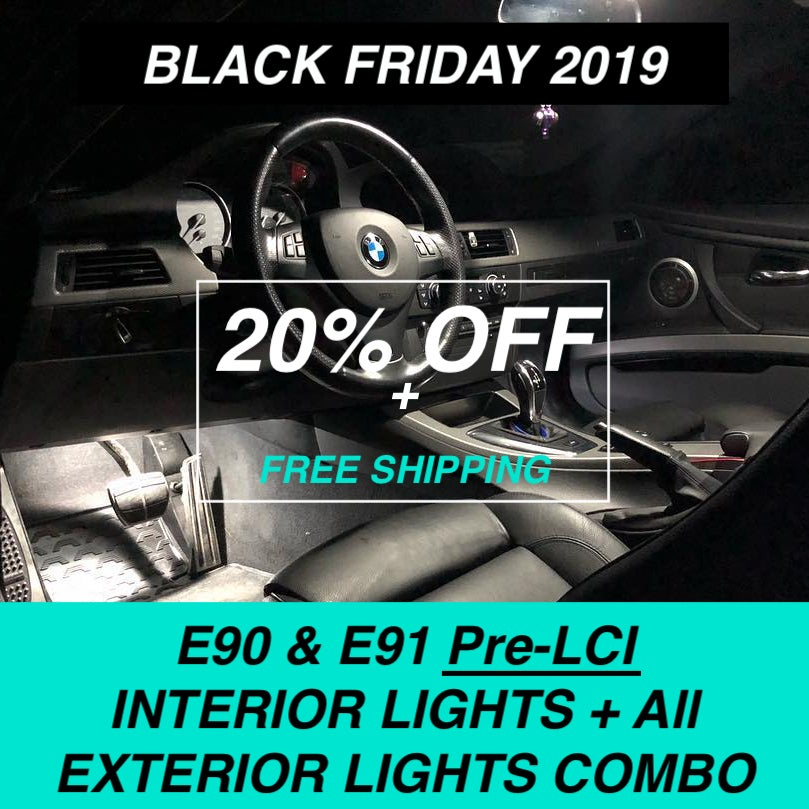 Image of BMW - 3 SERIES E90 & E91 (PRE-LCI)* LED INTERIOR + EXTERIOR LIGHTS COMBO DEAL