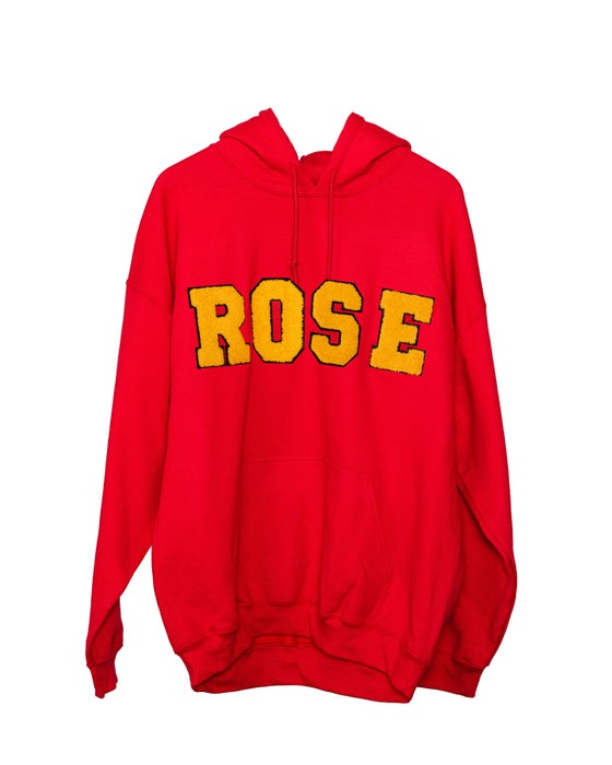 Image of Day 1 Homies Club ROSE Logo Hoodie | Ferrari Red