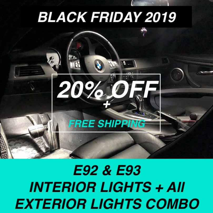 Image of BMW - 3 SERIES E92 & E93 LED INTERIOR + EXTERIOR LIGHTS COMBO DEAL
