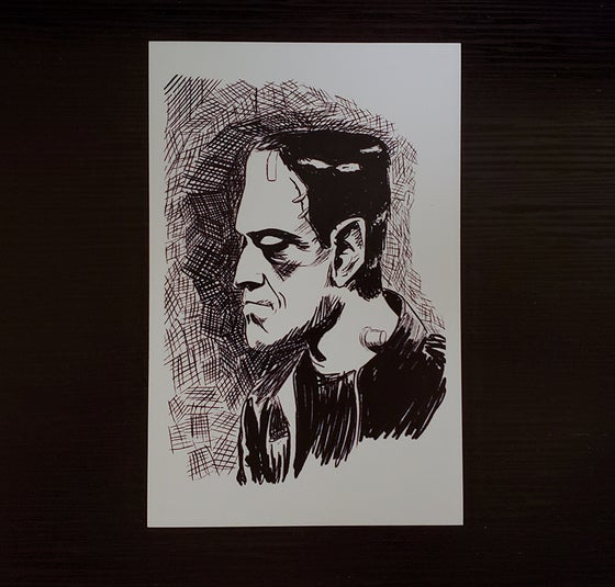 Image of Frankenstein Illustration Print