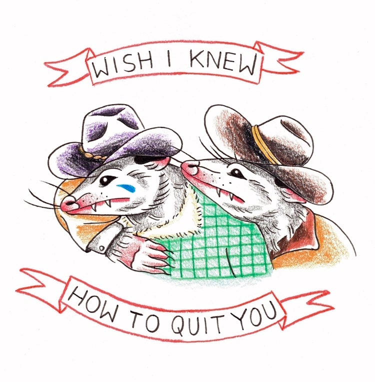 Image of Broke Back Possum Sticker 4 inch Collaboration w/ Ona Greenberg  @missngnmbr
