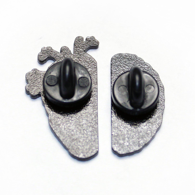 Image of brainheart pin pair