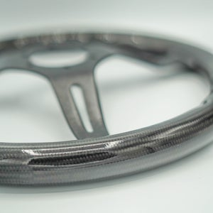 Image of Brushed Black Carbon Steering Wheel