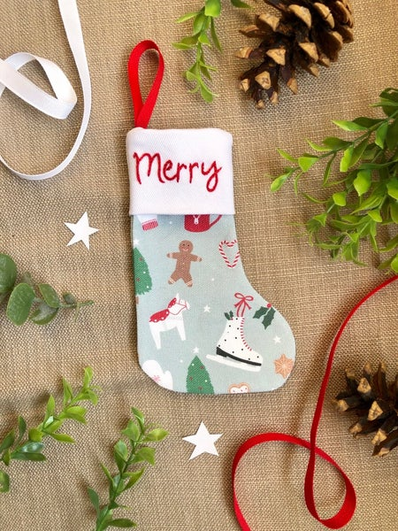 Image of Merry and Bright Mini Stocking