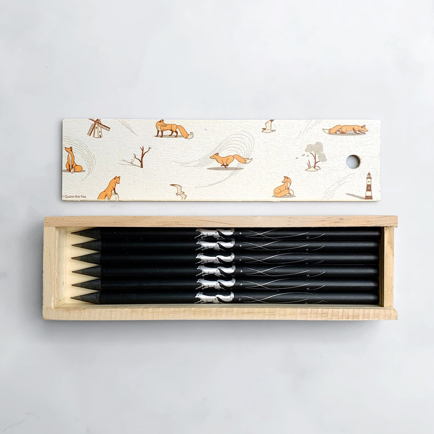 Image of Windswept Wooden Pencil Box