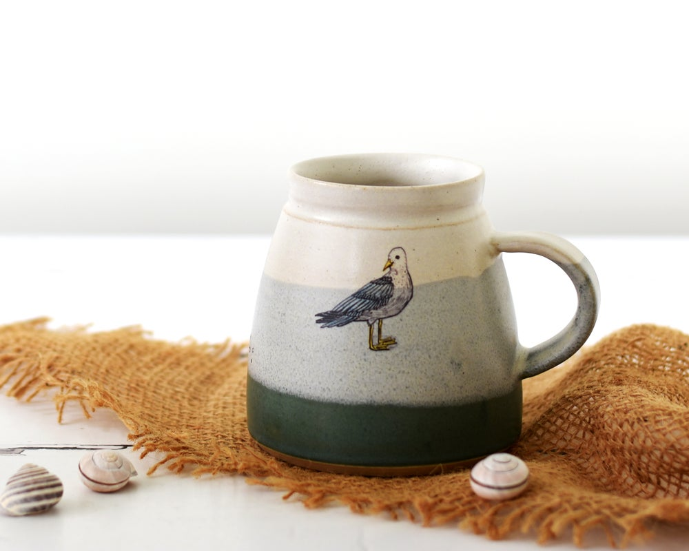 Image of Ceramic Seagull Mug