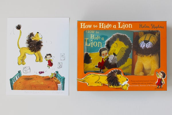 Image of How to Hide a Lion gift set & signed giclée print