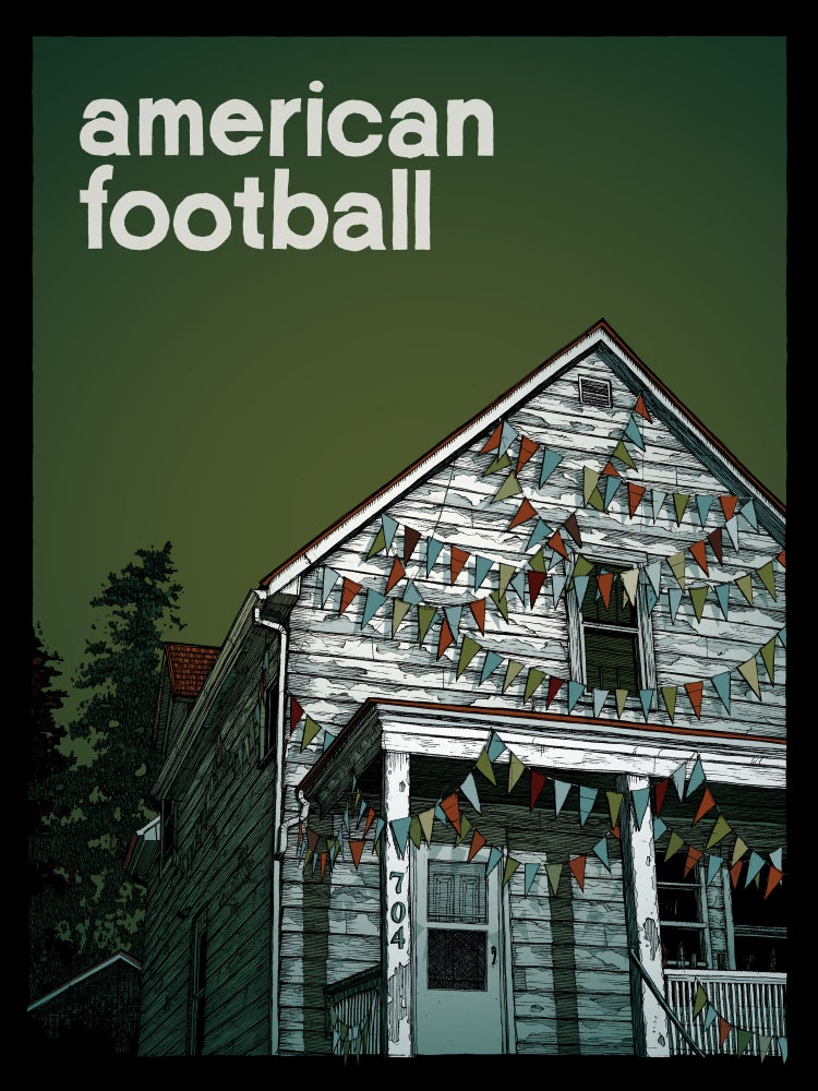 "Image of ""american football (the one with the house)"" • Limited Edition Art Print (18"" x 24"")"