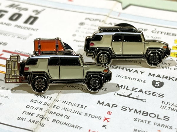 "Image of ""LANDLAND Mobile Transport"" FJ Cruiser Enamel Pins"