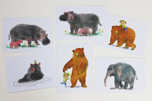 Image of Animal postcards